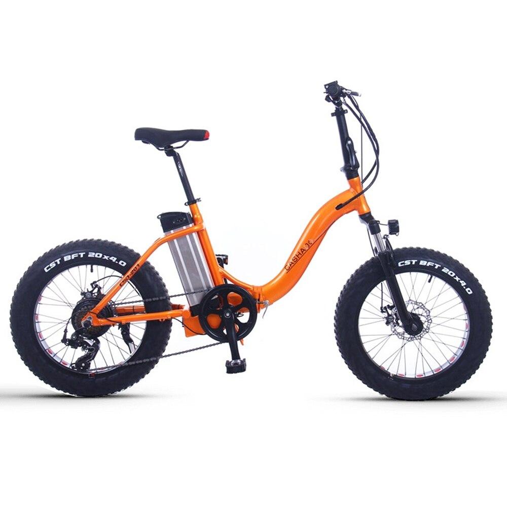 20 pouces vélo de montagne électrique 48V350-500W moteur 12ah batterie au lithium neige vélo électrique pliant cygne cadre gros e-bike
