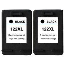 2Pk для hp картридж 122 черный картридж для HP Deskjet 1000 1050 1510 2000 2050 2050A 3000 3050 3050A Картридж для HP 122