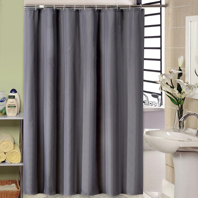 Dark Grey Shower Curtain Hotel Waterproof Thick