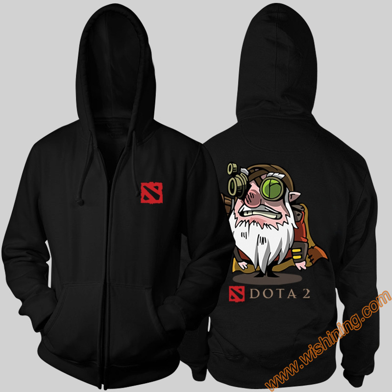 DOTA 2 Hero Gyrocopter Lina Bristleback Hoodies DOTA2 3xl Large Size Full Zipper Hooded Sweatshirts Wishining