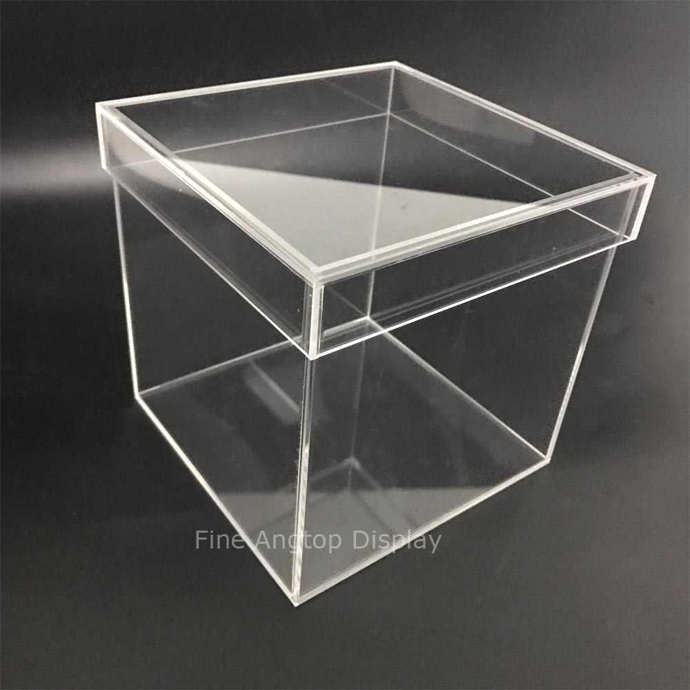 7e101220161d 150x150x150mm 5 sided Clear Acrylic Perspex Box Cube Display Case ...