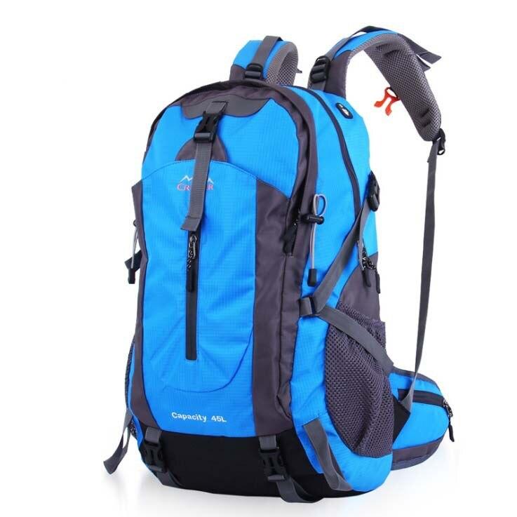 ФОТО Hot Professional Super Waterproof 45L and 50L Hiking Backpack Climbing Backpacks Travel Bags Men Backpack