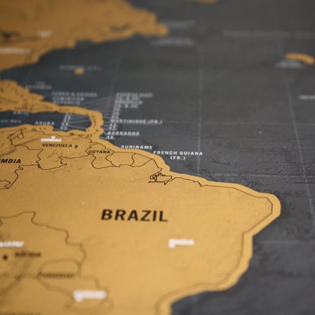 Luxury Edition Black Scrape World Map
