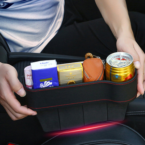 Image 2 - Tefanball Car Seat Crevice Storage Box Grain Organizer Gap Slit filler Holder Wallet Phone Coins Cigarette Pocket Accessories