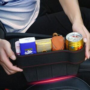 Image 2 - Tefanball רכב מושב נקיק אחסון תיבת תבואה ארגונית פער סדק מילוי מחזיק טלפון ארנק מטבעות סיגריה כיס אבזרים