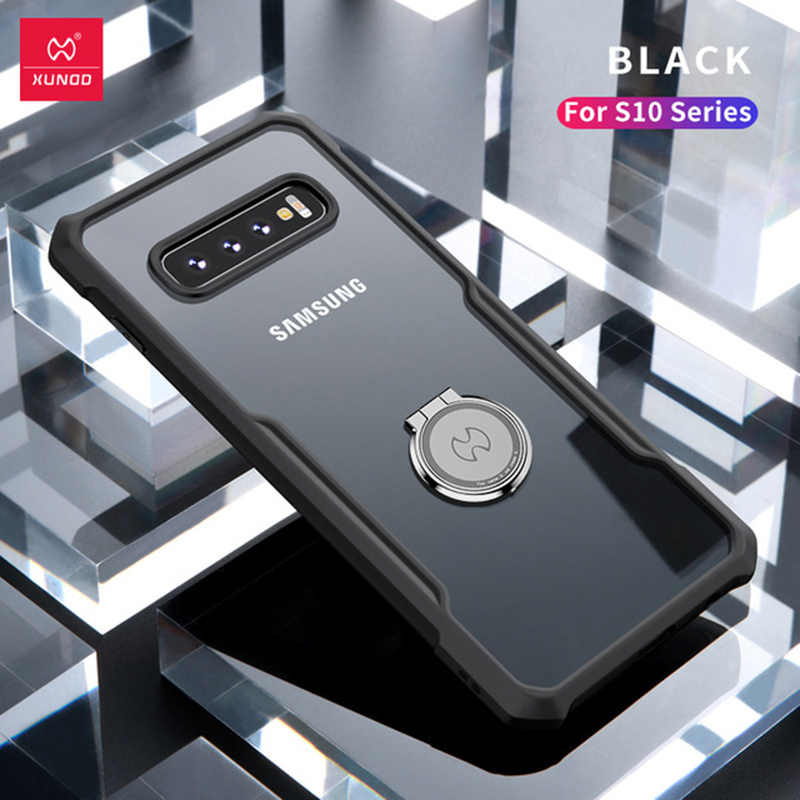 ce68f507f4 Xundd For Samsung Galaxy S10 Plus Case Magnetic Car Holder Stand Finger  Ring Clear TPU Back