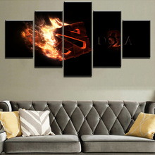 DOTA 2 Game 5 Pieces Home Print Poster Canvas Painting Wall Art Living Room HD Printed Modern Decorative Artwork