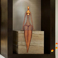 Hotel Lobby Decoration Body Art Metal Ornament Abstract Creative Crafts Home Decoration Ornaments Mermaid