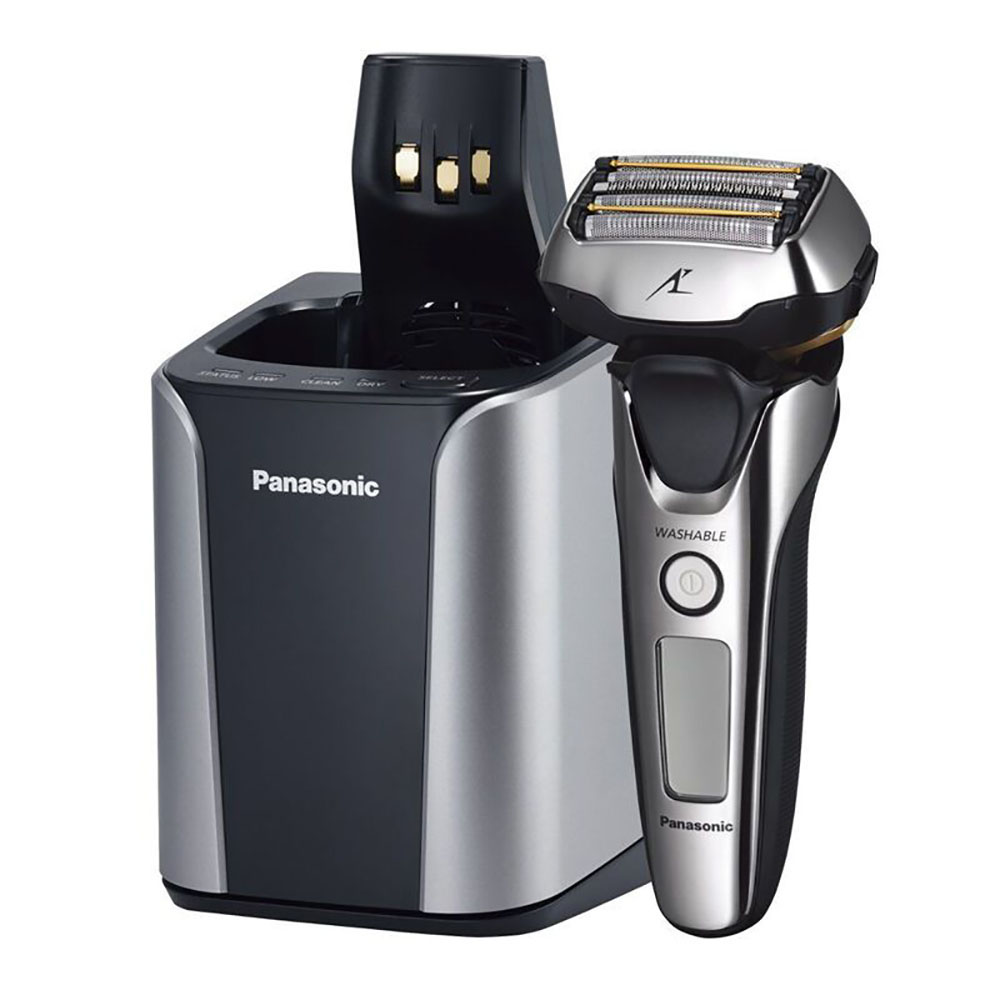 Panasonic Lamdash Men's Rechargeable Electric Shaver With 5-Blade Cutting System Multi-Flex 3D Head Silver Tone ES-LV9A-S