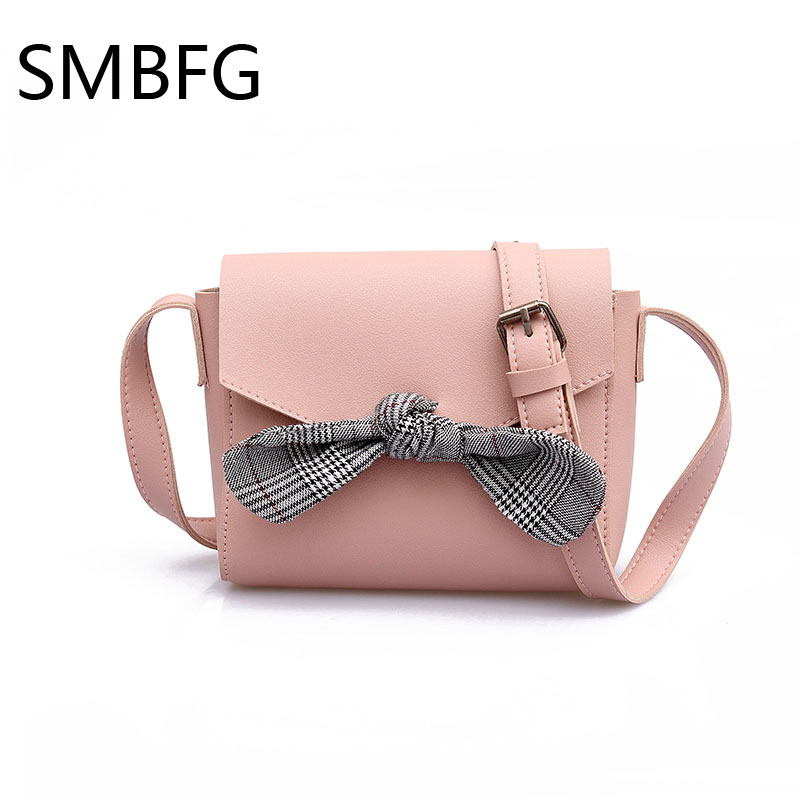 Women Handbag with Bow Female PU Leather Small Bags Handbags Ladies Portable Shoulder Bag Office Ladies Hobos Bag 2018 New 1