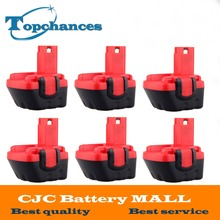 6PCS Brand New 12V Ni-CD 2000mAh Replacement Power Tool Battery for Bosch BAT043 2 607 335 692 Bosch 22612 Bosch 23612 Black&Red