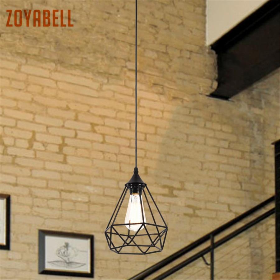 Zoyabell Vintage Lampada Lampada a Sospensione Moderna Ferro Da Pranzo Ristorante Industriale Decor Retro Design Lampada a Sospensione Hanging Light