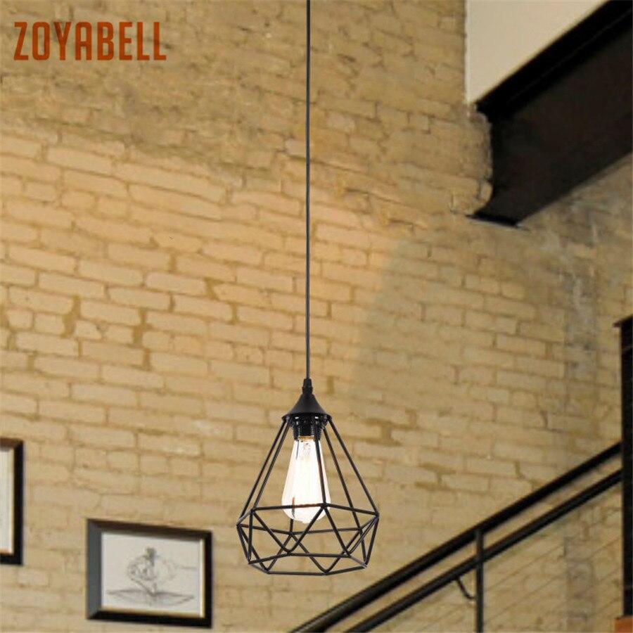 Zoyabell Vintage Pendentif Lumière Lampe Moderne Fer À Manger Restaurant Décor Industriel Rétro Conception Lampe Pendentif Accroché Lumière