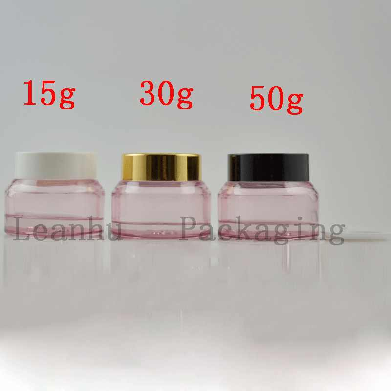 15g 30g Pink Empty Glass Cosmetic Containers Mask, Face Cream Jars Cosmetic  Packaging beautiful glass Pot skin care container