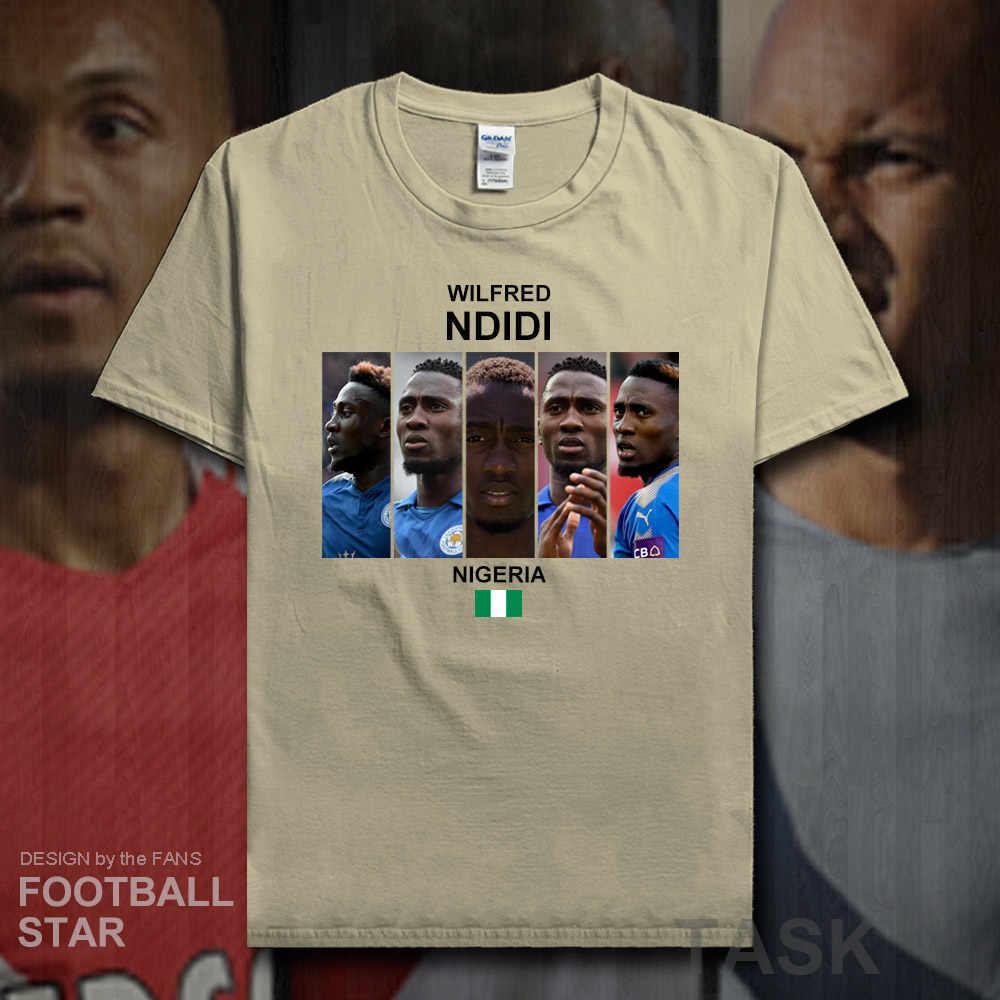Wilfred Ndidi Áo nam áo Nigeria cầu thủ bóng đá người sao thun cotton thể dục Áo phông TEE in hình quần áo thông thường 20