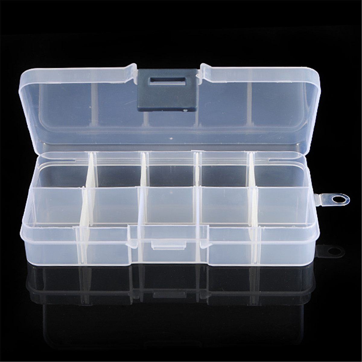 10 Grids Plastic Empty Box Nail Art Container Tips Rhinestone Gems Crystal Jewelry Beads Accessories Detachable Storage Case