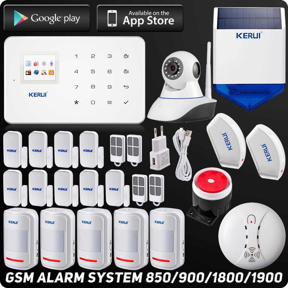 DHL Free Shipping Wireless GSM Home Security Alarm System Solar Flash Siren ISO Android APP  Smoke Detector Curtain Sensor dhl ems free shipping wireless home alarm system house safety loudly speaker warehouse protection wireless pir detector sensor