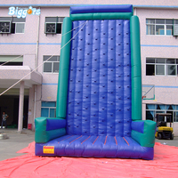 Outdoor Commercial Popular Durable Inflatable Rock Amusement Climbing Wall For Games