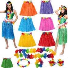 2018 Hawaii Flower Lei Headband Garland Necklace Bra Hula Grass Skirt Fancy Dress Costume Set Beach  sc 1 st  AliExpress.com & Buy tropical fancy dress and get free shipping on AliExpress.com