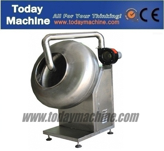 candy coating peanuts machine with spray gun and liquid barrel