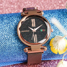 Women Watches Quartz Wristwatch Stainless Steel Ladies Watch Fashion Creative Star Dial Mesh Band Female Clock relojes mujer