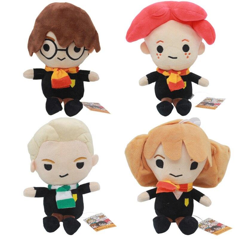 25 cm Mignon Harry Potter En Peluche Poupées Q Version Malefoy Hermione Dobby pour Cadeaux
