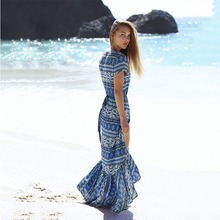 ZOGAA Summer Beach Women Sexy Ladies Womens Dress Vestidos Floral Print Long Female Dresses Cheap Vestido Longo Playa Vetement