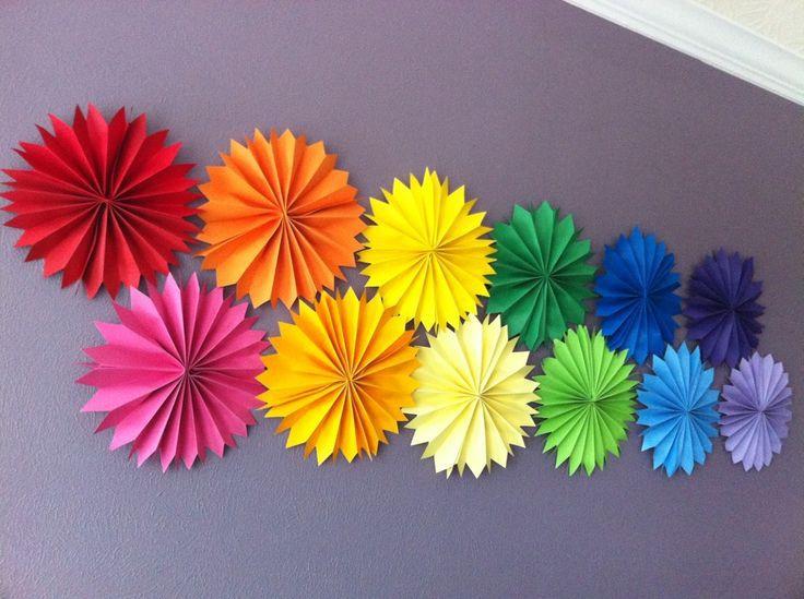 Summer Decoration wedding hanging tissue fans rosettes pinwheels fiesta tissue fans