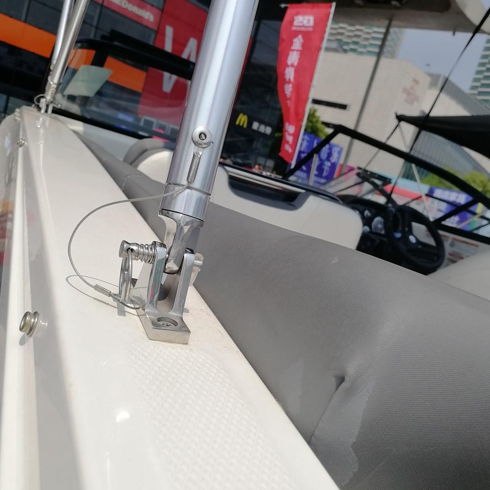 4Pcs Marine Boat Bimini Top Straight Deck Hinge Fitting 316 Stainless Steel