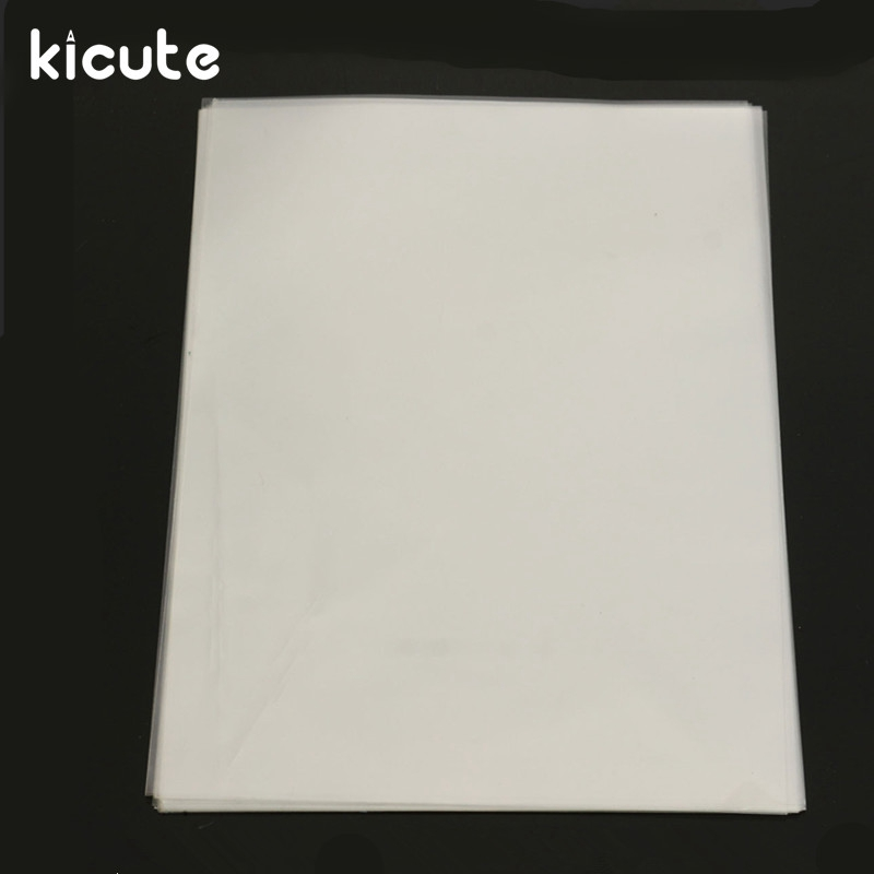 Kicute 20 Sheets Transparent A4 Double Sided Adhesive
