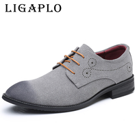Footwear Retro Suede Casual European Shoes Dress Shoes Leather Man Shoes Luxury Brand Formal Footwear Male