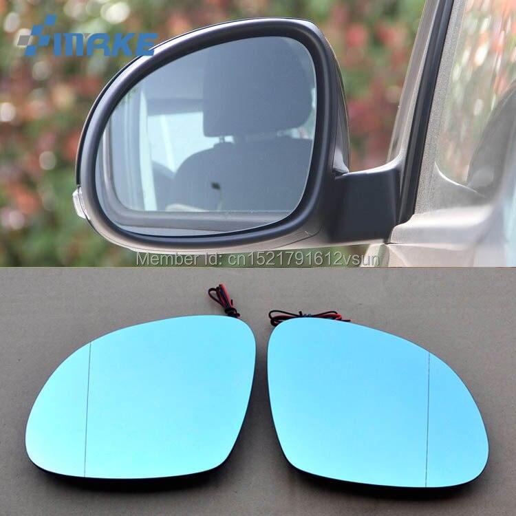 smRKE 2Pcs For Skoda Yeti Rearview Mirror Blue Glasses Wide Angle Led Turn Signals light Power Heating
