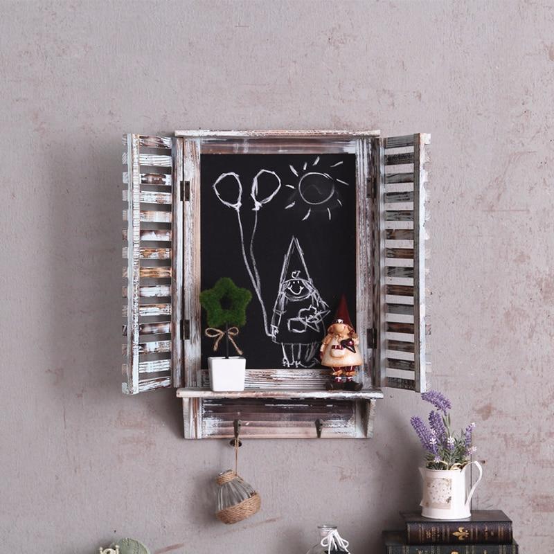Rétro Style américain enfants chambre décoration ornements début éducation créative fausse fenêtre tableau noir tenture murale décorations