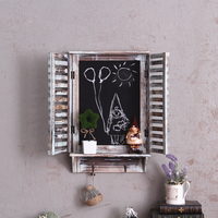 Retro American Style Kids Room Decoration Ornaments Early Education Creative Fake Window Blackboard Wall Hanging Decorations