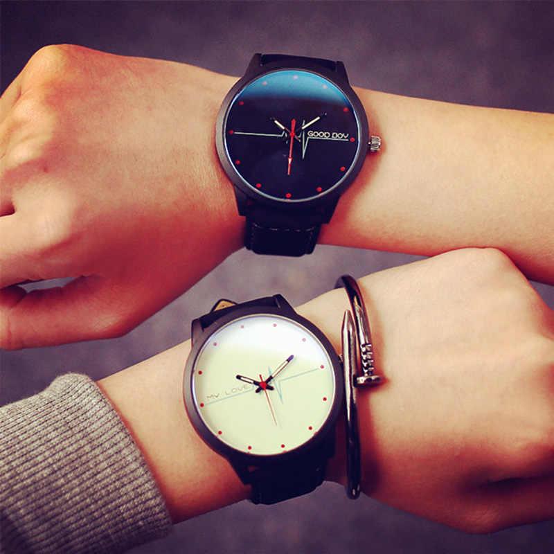 Новое поступление, электрокардиограмма, синее стекло, хороший мальчик, мой любовный циферблат, модные повседневные часы для женщин, кварцевые часы для девочек, наручные часы reloj