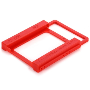 Plastic 2.5 Inch to 3.5 Inch SSD HDD Mounting Bracket Adapter 2.5