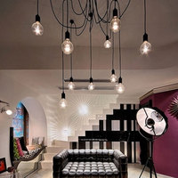 6 Lamp Pendant Lights Retro Loft Chandelier Lighting Ceiling Lamps Adjustable