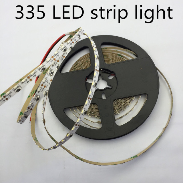 LED 335 Strip light LED high light SMD335 strip light 5MM PCB board 60led/m warm white Side Emitting LED Strip Light 120led/m