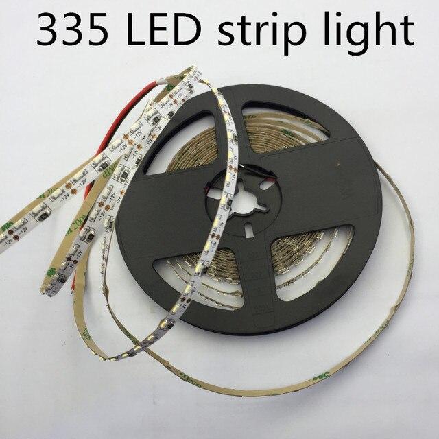 LED 335 luce di Striscia LED ad alta luce SMD335 luce di striscia 5 MILLIMETRI PCB bordo 60led/m bianco caldo Lato LED che emette Luce di Striscia 120led/m