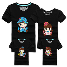 Cartoon 2016 Men Funny T Shirt Brand Clothing Cotton Casual T-shirt Homme Tshirt Harajuku Polera Family Matching Clothes Outfits