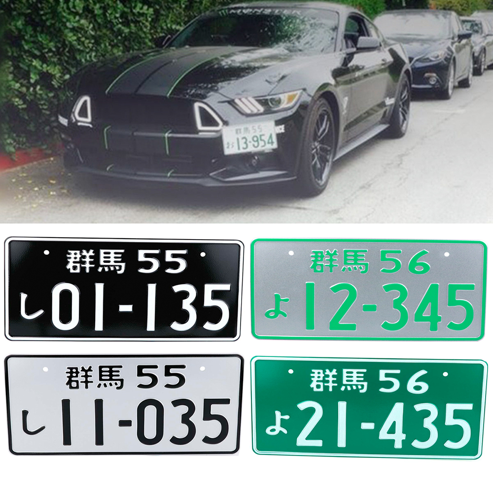 JDM Japanese Style License Plate Aluminum License Number For Universal Car