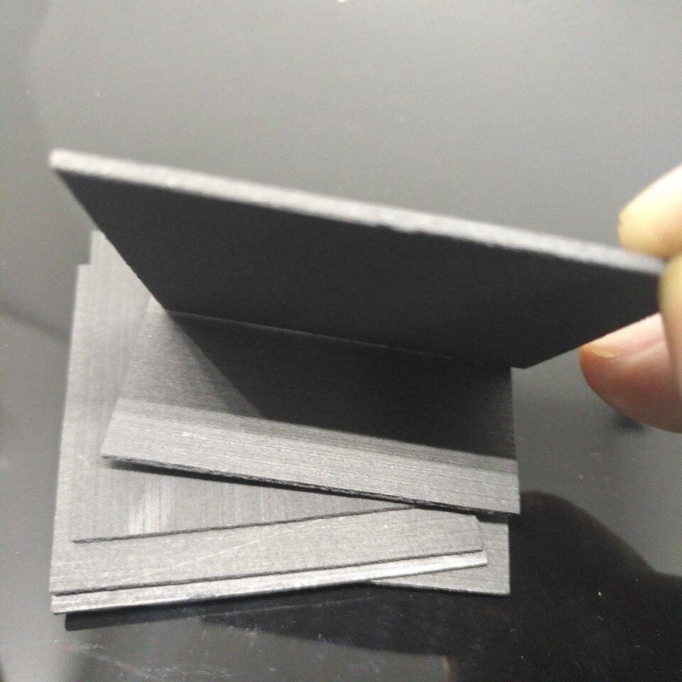 5 Pcs//set 99.99/% Pure-Graphite Electrode Rectangle Plate Sheet Kits 50*40*3mm