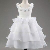 女の子白いドレスローズレース衣装ウェディングドレスプリンセス幼児の女の子チュチュ夏パーティーウエディング用女の子子供イブニング服