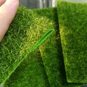 Image 5 - 1Pcs 15*15ซม.ตุ๊กตาMitationอุปกรณ์เสริมปลอมMoss Gardenเฟอร์นิเจอร์ของเล่นลานหญ้าสีเขียวของเล่นสำหรับเด็ก