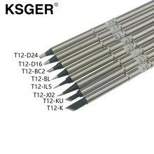 KSGER T12-BC2 K ILS J02 KU BL D16 D24 XA-Grado di Saldatura Punta di Ferro Per Hakko FX951 T12 di Saldatura stazione di OLED Digital Controller