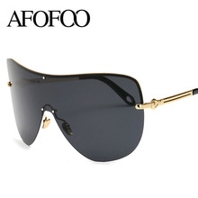 AFOFOO Fashion Oversized Polarized Sunglasses Women Men Luxury Brand Designer Mirror Sun glasses UV400 Shades Goggle Eyewear