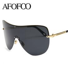 AFOFOO Fashion Oversized Polarized Sunglasses Women Men Luxury Brand Designer Mirror Sun glasses UV400 Shades Goggle Eyewear