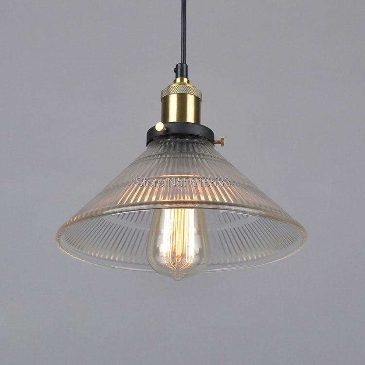 ჱVintage loft industrial lustre americano vidrio cobre Edison ...
