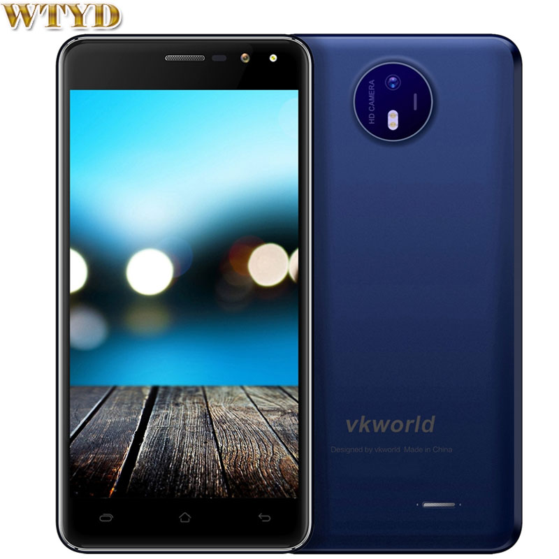 3G Original VKworld F2 2GB+16GB 5.0'' 2.5D Glass Android6.0 MTK6580A Quad Core up to 1.3Ghz Cellphone OTA 1280 x 720 pixels