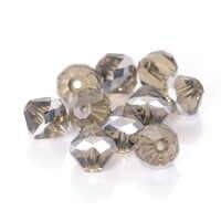 Ein Strand Überzogen Tschechischen Faceted Doppelkegel Glas Perlen Für Diy Schmuck Machen Frauen Diy Perles Spacer Kristall Doppelkegel Perlen